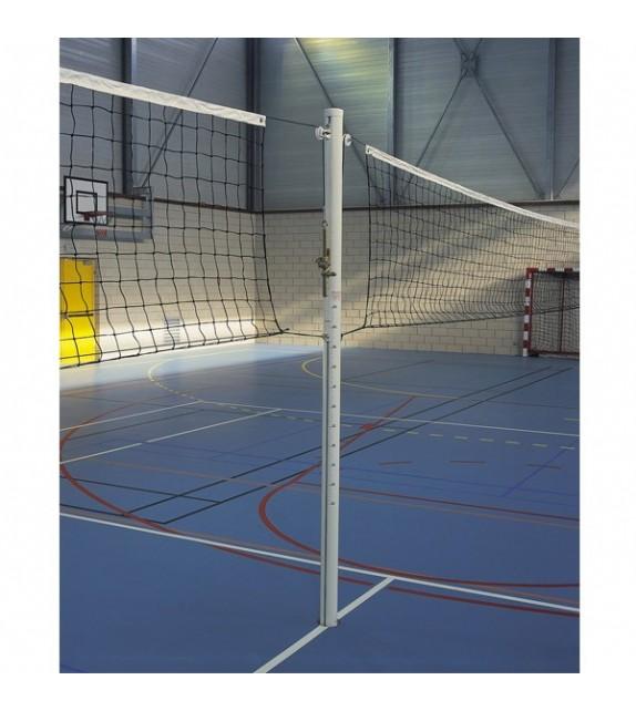Poteau central de volleyball en aluminium