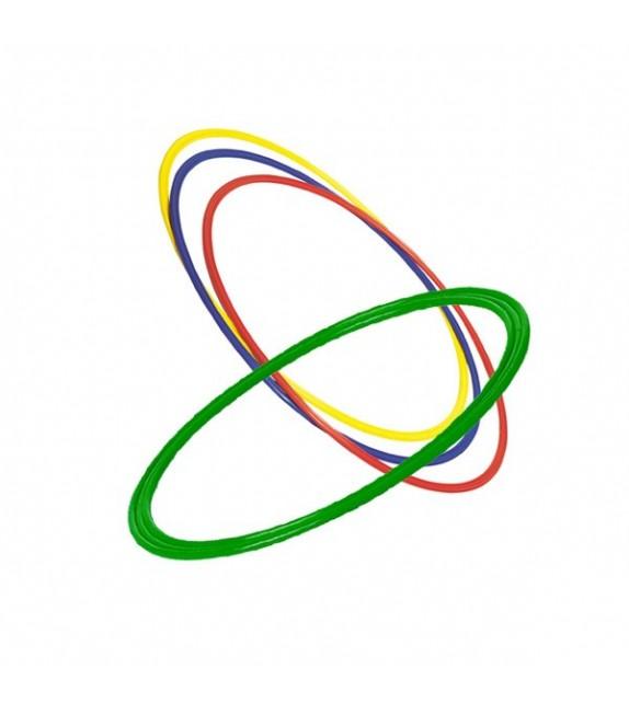 4 cerceaux plats 4 couleurs - diamètre : 50cm