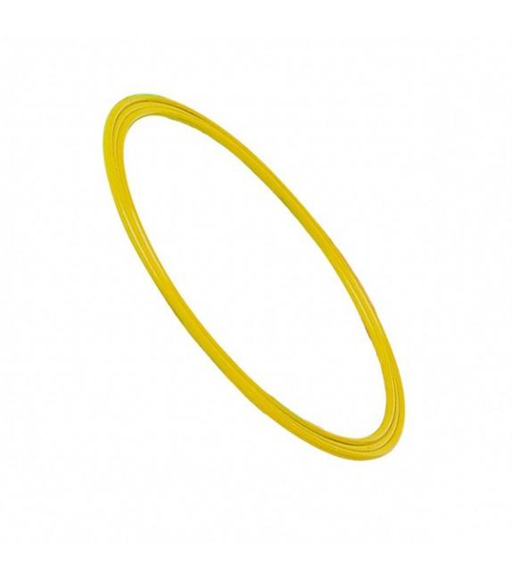 Cerceau plat jaune - diamètre : 50cm