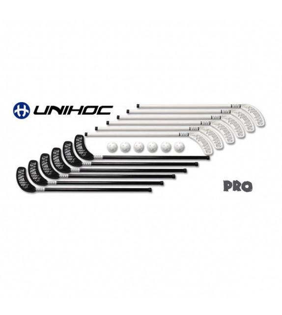 "Set UNIHOC PRO "" 12 sticks 90 cm + 6 balles """
