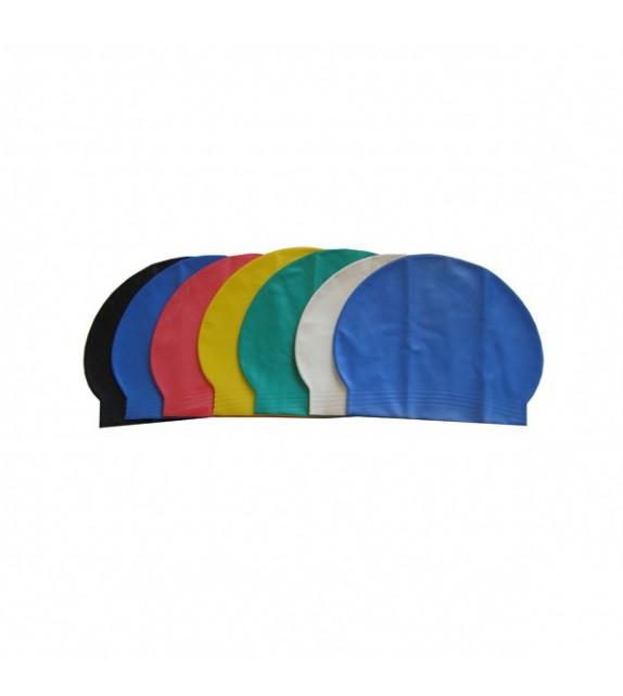 100 Bonnets natation Sil 55gr logo 1 faces 2 coul
