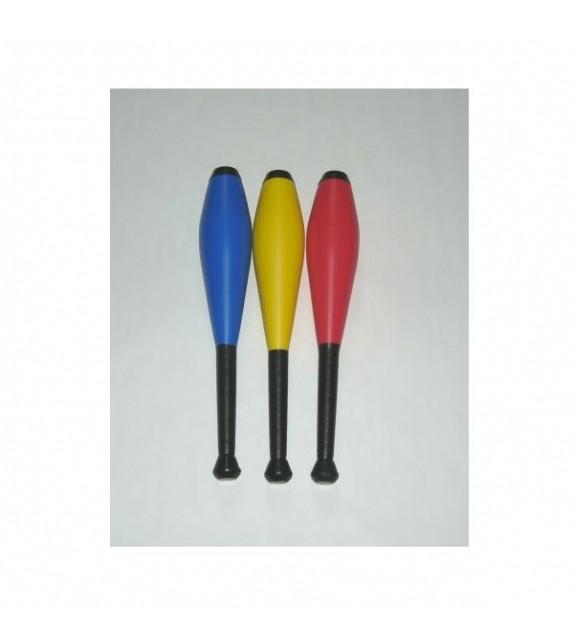 3 massues pour exercices jonglerie 42.5 cm
