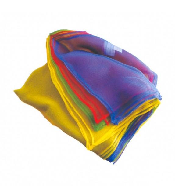 3 foulards pour exercices jonglerie 68 x 68 cm