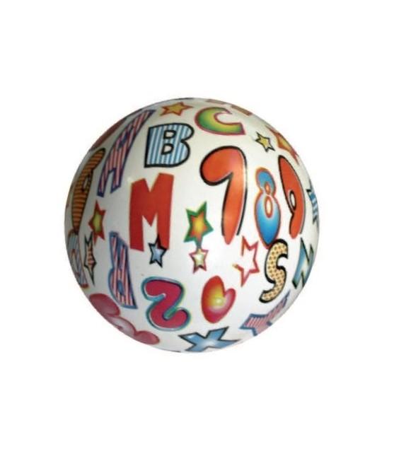 Ballon PVC 22cm Lettre et Chiffres