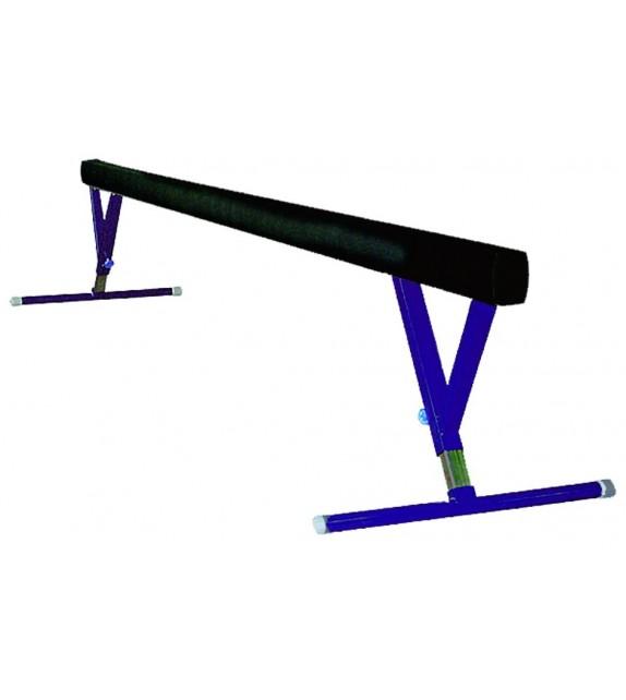 Poutre d'équilibre haute - 5m - métal+bois+feutre 3m
