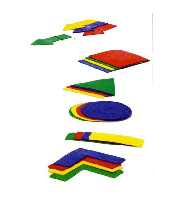 Set de 24 formes de délimitation - 4 couleurs