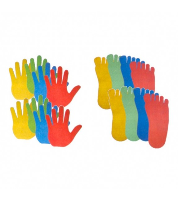 Set de 16 formes de délimitation - pieds/mains
