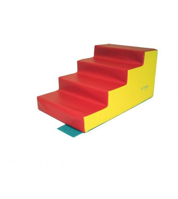 Escalier 4 marches 80x50x10/40 cm