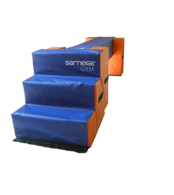 Gymstart - escalier mousse rigide 0,6mx0,6m