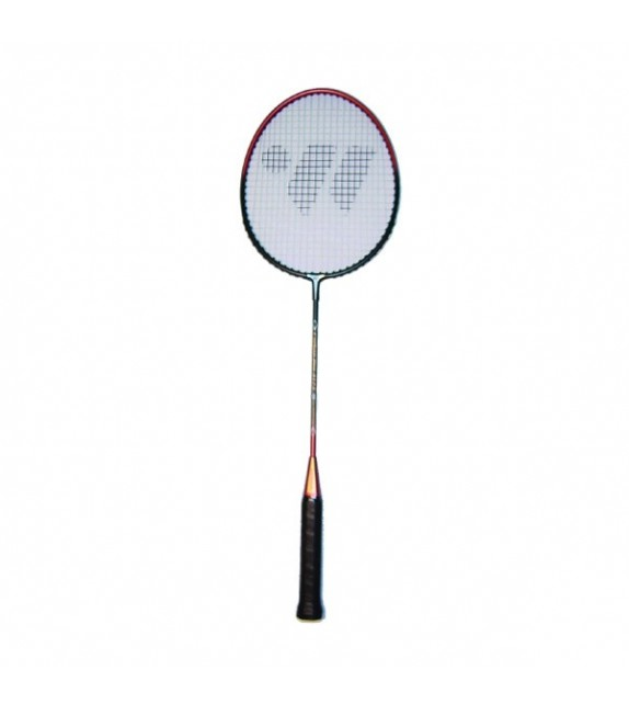 Raquette de badminton tige:acier / tête:alu 66cm