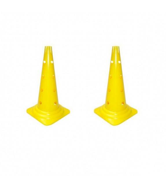 2 cônes avec trous et encoche cerceau h: 35cm