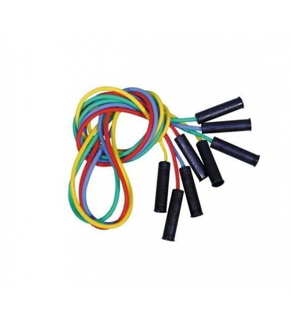 Set de 4 cordes à sauter PVC 220 cm 4 couleurs