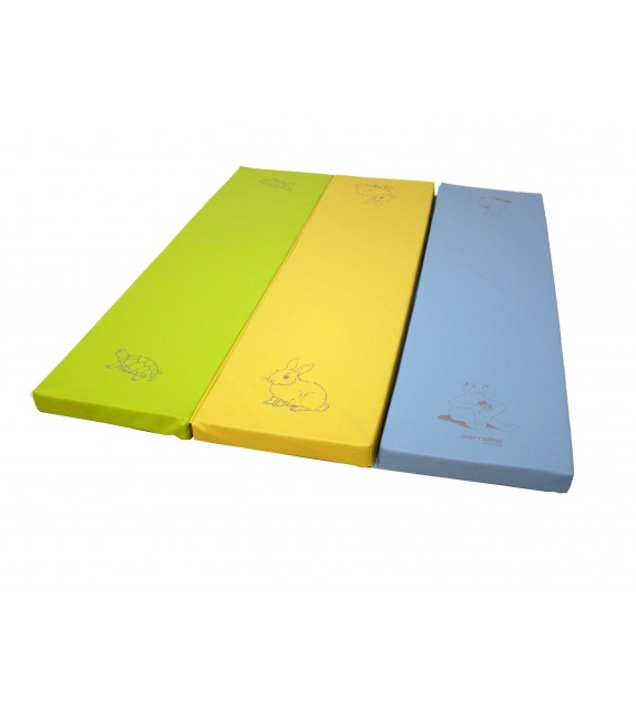 Tapis dépliable - Lapin Ourson Tortue