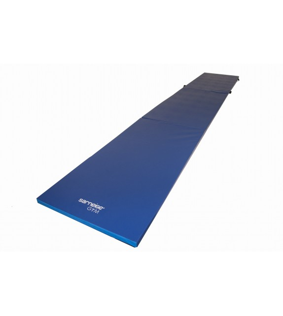 Chemin de gymnastique pliable 5cm - largeur 1m bleu