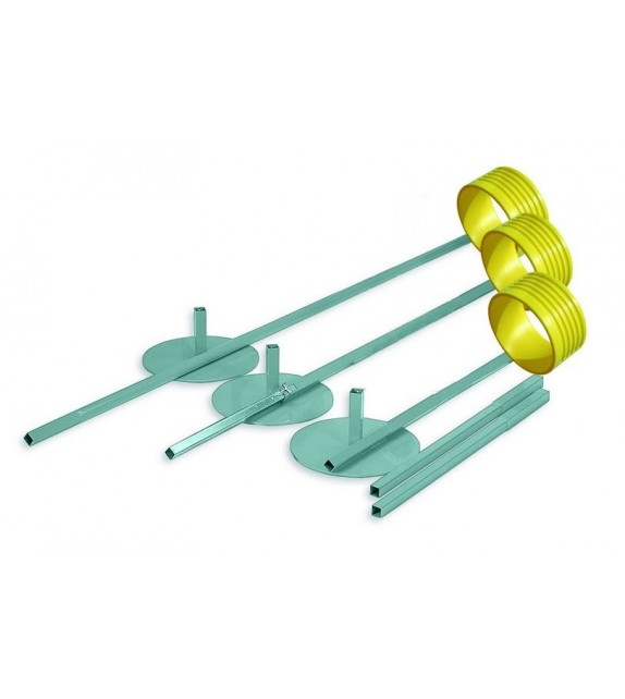 Korfbal - poteau 150 - 350 cm + pied
