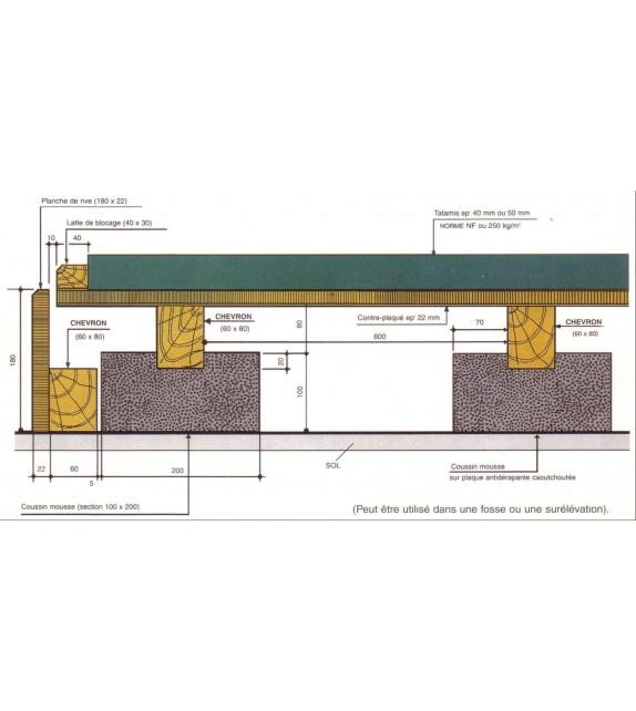Plancher flottant pour la pratique des arts martiaux - 1 m²