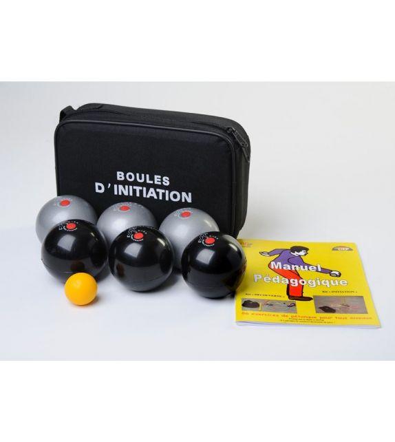 6 Balles de pétanque molles 680gr 74mm - adulte