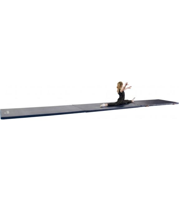 Chemin de gymnastique pliable 5cm - largeur 2m bleu