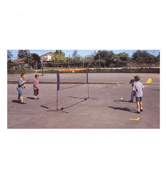 Badminton - poteaux + filets l:3.1m h: 1.5m