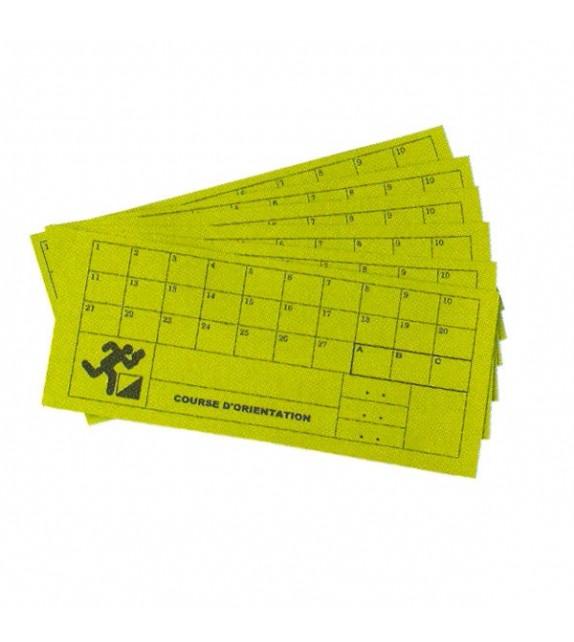 Course d'orientation - set de 10 cartons contrôle