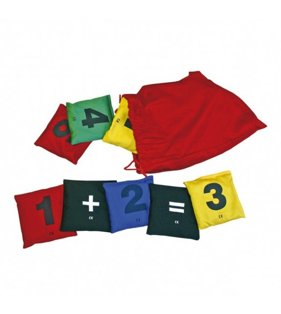 Set de 15 sacs à grains - chiffres et signes