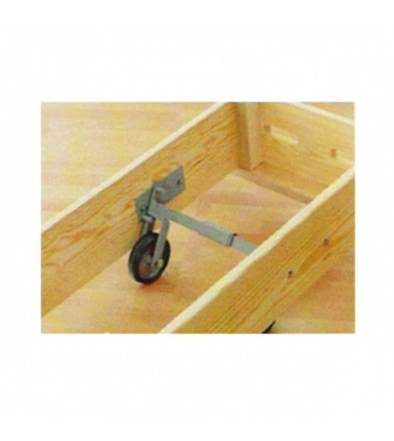 Système de roulettes pour plinths 1 et 3 caissons
