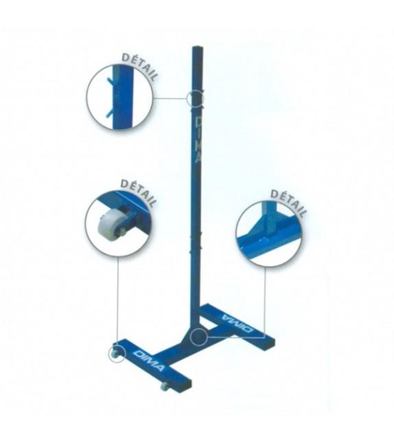 Poteau central de badminton version training