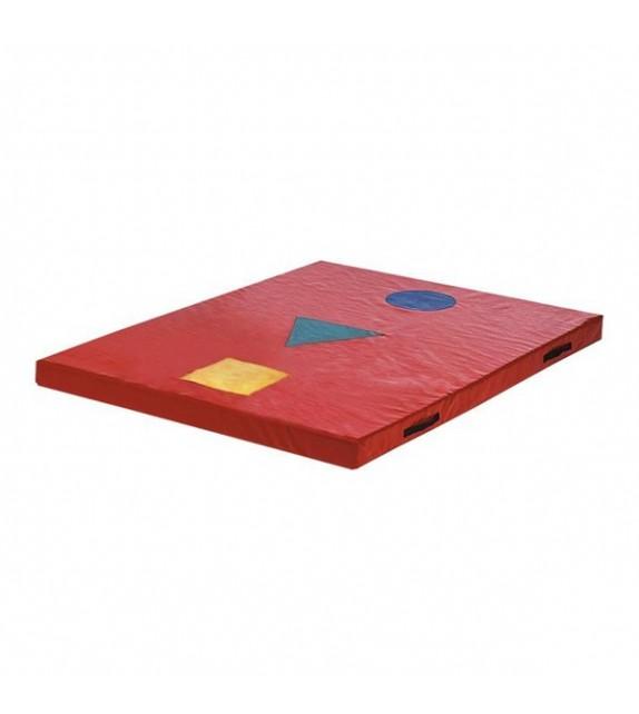Matelas cible 2 190x140x10cm rouge
